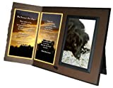 """Her Journey's Just Begun"" Poem Pet Loss Sympathy Picture Frame Gift and Memorial Keepsake"