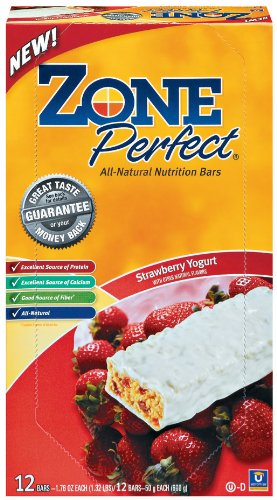 ZonePerfect All Natural Nutrition Bar, Strawberry Yogurt, 1.76-Ounce Bars in 12-Count Boxes (Pack of 2)
