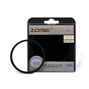 Zomei 82mm Genuine Ultra-Violet UV Filter Lens Protector for Canon Nikon Camera