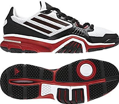 adidas Men's Optigon III Speed Trainer Cross Training Shoe,Black/University Red/Running White,11.5 M US