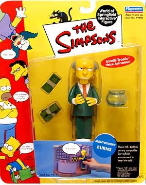 Picture of Playmates Simpsons Series 1 Mr. Burns Action Figure (B001OGN826) (Playmates Action Figures)