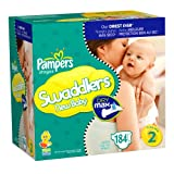 Pampers Swaddlers Dry Max Diapers, Size 2, 184 Count ~ Pampers