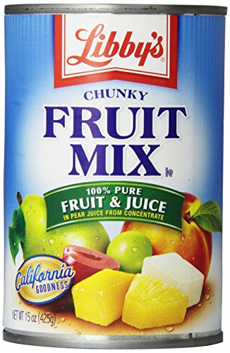Libby's Fruit Mix -chunky In Pear juices Concentrate, 15-Ounce Cans (Pack of 12) (Fruit Cans compare prices)