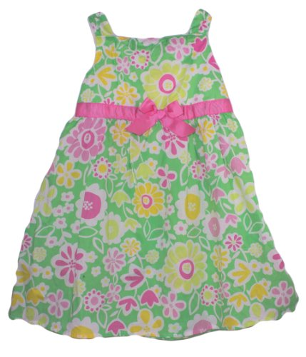 Okie Dokie® Baby Girls Spring Flower Dress - Light Green / Multi, Size: 4t пижама мужская cacharel цвет темно синий 2150 размер xxl 52 54