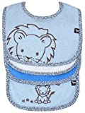 Bib (3 pack) and Burp Cloth (1 pack) Set, Lion (blue), Frenchie Mini Couture