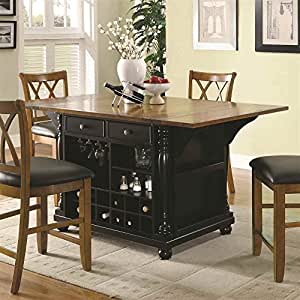 Amazon Kitchen Island with Drop Leaves Kitchen & Dining