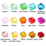 Beadnova Wholesale Assorted Mix Lot Xillion Bicone Faceted Round Teardrops Cube Artmeis Crystal Glass Beads For Jewelry Making Findings 4mm 1500pcs Passion Color Mix Lot/#5328 Xillion Bicone AD