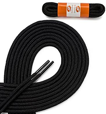 OrthoStep Round Athletic Black 27 inch Shoelaces 2 Pair Pack
