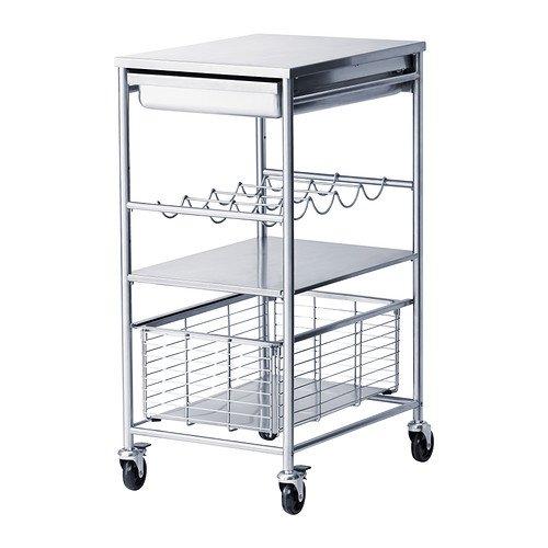 IKEA(イケア) GRUNDTAL キッチンワゴン ステンレススチール