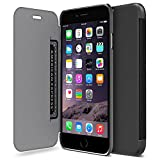 "iPhone 6 Case, Maxboost® [Ultra Slim] iPhone 6 Wallet Case (4.7 inch) [Lifetime Warranty] Premium Slim-Fit Protective PU Leather Case with Card Slot Holster and High-Grade TPU Casing [Folio Style] Flip Hard Cases Cover For Apple iPhone 6 4.7"" (2014) - Black"