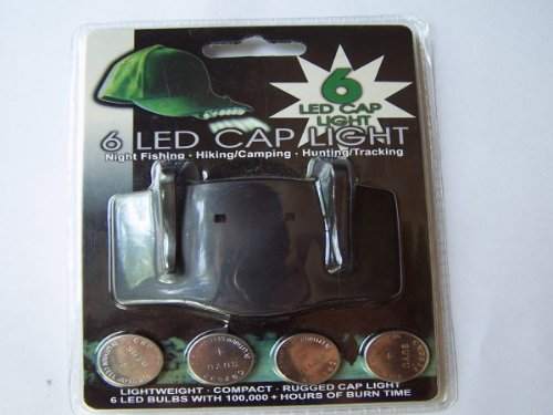 New 6 LED Cap Light Great for Night Fishing, Hiking, Camping, Hunting / Tracking