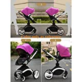 2-in-1Standard-StrollerSeparate-Sleeping-Basket-Suspension-High-view-Detachable-Washable-Portable-and-Folding-Baby-Stroller-Plus-Separate-Sleeping-Basket-for-Baby-Sit-or-Lie-down-red
