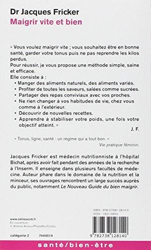 Libro Maigrir vite et bien di Jacques Fricker, Anne