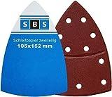 60 Stück SBS Klett Schleifblätter 105 x 152mm 10x je Korn...