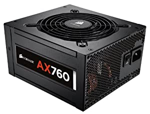 Corsair Professional Series 760 Watt ATX/EPS Modular 80 PLUS Platinum Power Supply AX760