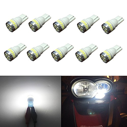 JDM ASTAR 10pcs Super Bright 360-Degree Shine 194 168 175 2825 T10 24-EX Chipsets LED Bulbs,Xenon White (Best Value on the market) (1999 Jeep Factory Service Manual compare prices)