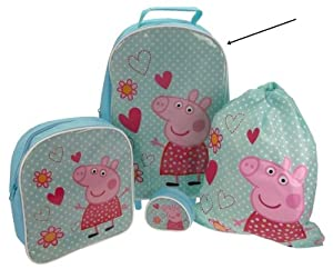 Peppa Pig 4 Piece Childrens Luggage Set - Pink 91jjb48