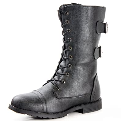 0fb9c69b5f0 West Blvd Womens CAIRO COMBAT Boots Lace Up Military Army Motorcycle ...