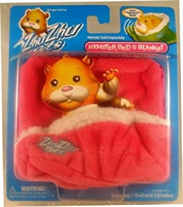 Zhu Zhu Pets Hamster Blanket and Bed - Pink