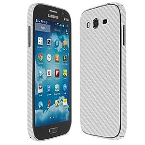 Skinomi® TechSkin - Samsung Galaxy Grand Neo Screen Protector + Carbon Fiber Silver Full Body Skin / Front & Back Premium HD Clear Film / Ultra High Definition Invisible and Anti Bubble Crystal Shield