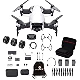 DJI Mavic Air Fly More Combo Travel Bundle Arctic White with lens filter 3 piece set and Professional Case and more.(White) (Color: White)