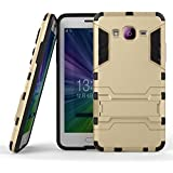 Yes2Good Graphic Designed Kick Stand Version 3.0 Hard Dual Rugged Armor Hybrid Bumper Back Case Cover For Samsung Galaxy Grand Prime G530 - Gold