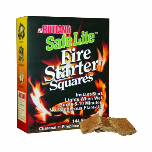 Great Features Of Rutland Safe Lite Fire Starter Squares, 144-Square