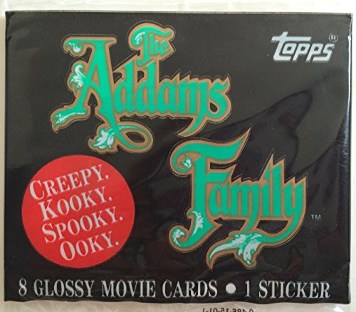 Topps The Addams Family Stickers - 8 Glossy Movie Cards - 1