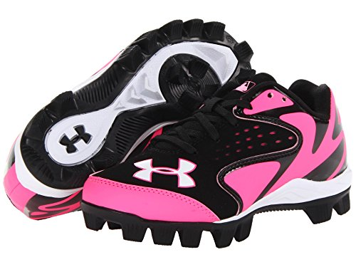 pictures of Under Armour Leadoff Iv Low Jr Black/Pink 4