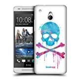 Head Case Brush Skulls And Crossbones Snap-on Back Case Cover For Htc One Mini