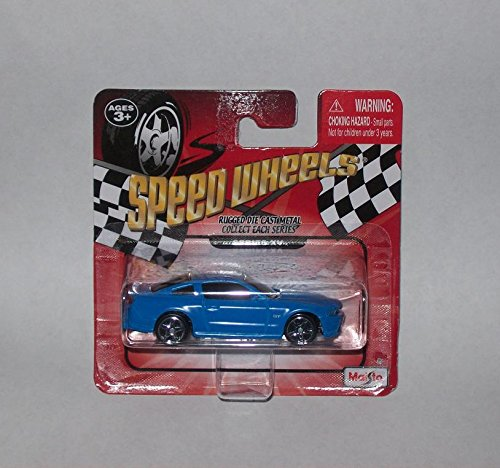 Maisto Speed Wheels Die-Cast Vehicles ~ 2010 Ford Mustang GT Series XV (Blue)