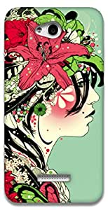 The Racoon Lean Jungle trends hard plastic printed back case / cover for HTC Desire 616