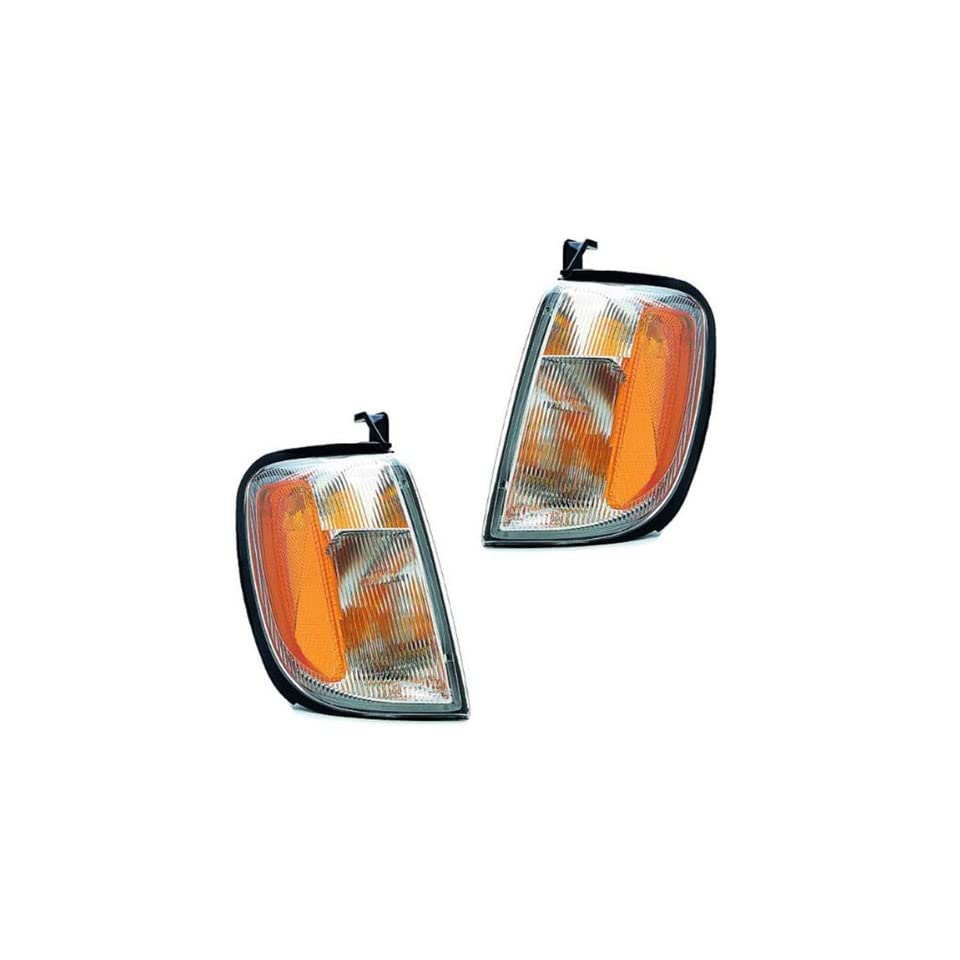 2000 2001 Nissan Xterra & 1998 1999 2000 Frontier Pickup Truck Park Corner Light Turn Signal Marker Lamp Pair Set Right Passenger AND Left Driver Side (1998 98 1999 99 2000 00 2001 01)