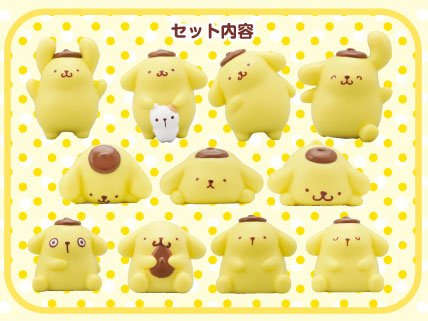 NoseChara Pom Pom Purin Dog Stacking Trading Collectable Figure Character Model NOS 41 Collection Tsum Ensky