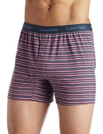 Calvin Klein Men's Knit Slim Fit Boxer, Gribbon Stripe, X-Large
