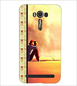 PrintDhaba Couple D-2685 Back Case Cover for ASUS ZENFONE 2 LASER ZE550KL (Multi-Coloured)