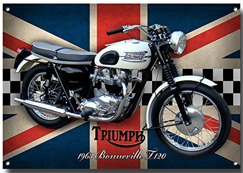 triumph-bonneville-t120-moto-signe-metal-avec-enamelled-finition-285mm-x-410mm-x-1mm