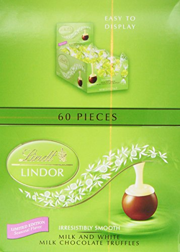 Lindt LINDOR Spring Milk with White Chocolate Chocolate Truffle 60 Count Box