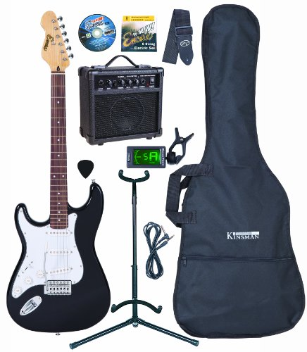 Encore EBP-LC3T Black Electric Guitar Outfit, Left Handed
