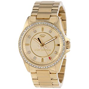 Juicy Couture Women's 1901076 Stella Mini Gold Plated Bracelet Watch