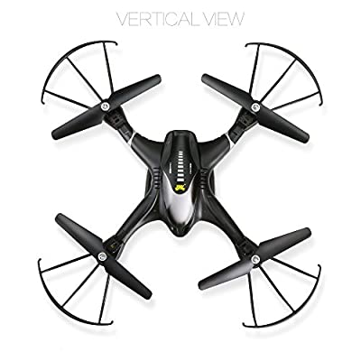 Holy Stone HS200W FPV RC Drone with HD Wifi Camera Live Feed 2.4GHz 4CH 6-Axis Gyro Quadcopter with Altitude Hold, Gravity Sensor and Headless Mode RTF Helicopter, Color Black by Holy Stone