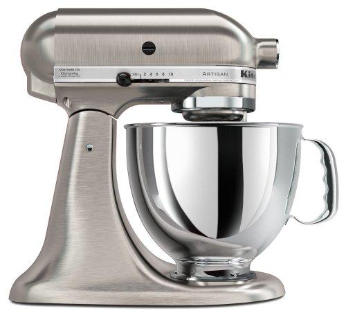 KitchenAid KSM152PSNK Custom Metallic Series 5-Quart Mixer, Brushed Nickel
