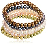 6-7mm Freshwater Cultured Pearl 5 Piece Bracelet Set, 7