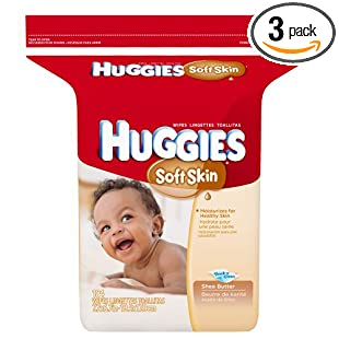 Huggies Soft Skin Baby Wipes, Refill, 184-Count Pack (Pack of 3), 552 Total Wipes