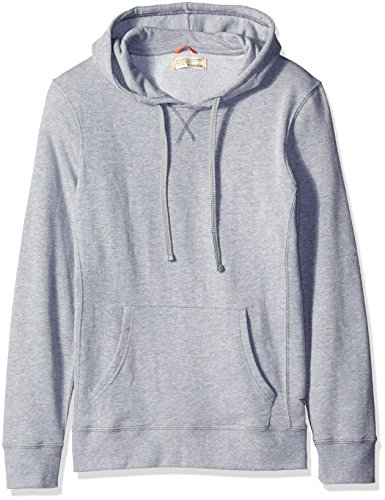 Dockers Men's French Terry Long Sleeve Hoodie Top, Heather Gray, X-Large