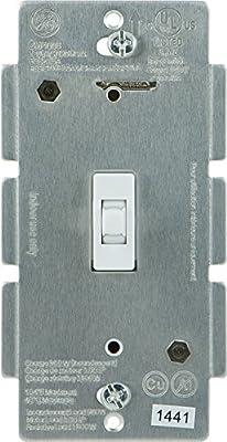 GE 12727 Z-Wave Wireless Lighting Control Smart Toggle Switch, White