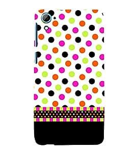 Wall Art Fashion Dots Girly 3D Hard Polycarbonate Designer Back Case Cover for HTC Desire 826::HTC Desire 826 Dual Sim::HTC Desire 826 DS (GSM + CDMA)