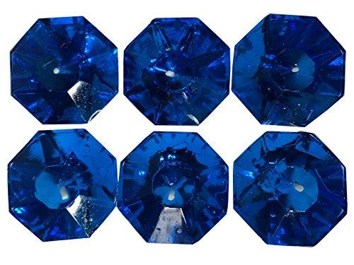 Beautiful Attractive Sainted Gel Diwali Diya, Blue color Pack of 6 Diya