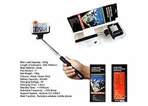 cradles mounts stands kjstar z07 5 black bluetooth selfie stick exte. Black Bedroom Furniture Sets. Home Design Ideas