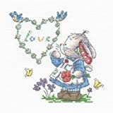 DMC First Initial Canvas Somebunny to love cross stitch kit BL750/51